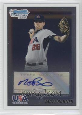 2010 Bowman Wrapper Redemption USA Certified Autographs #WR32 - Matt Barnes /99