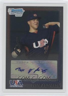 2010 Bowman Wrapper Redemption USA Certified Autographs #WR42 - Tyler Anderson /99
