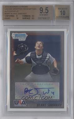 2010 Bowman Wrapper Redemption USA Certified Autographs #WR8 - Blake Swihart /99 [BGS 9.5]