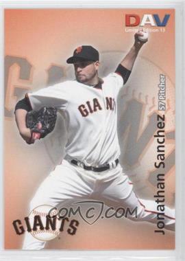 2010 Disabled American Veterans Major League - [Base] #13 - Jonathan Sanchez