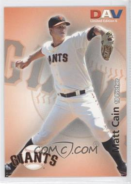 2010 Disabled American Veterans Major League #6 - Matt Cain