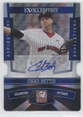 2010 Donruss Elite Extra Edition - [Base] - Aspirations Die-Cut Signatures #11 - Chad Bettis /100