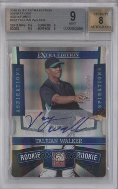 2010 Donruss Elite Extra Edition - [Base] - Aspirations Die-Cut Signatures #163 - Taijuan Walker /100 [BGS 9]