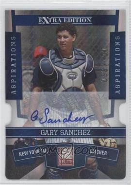2010 Donruss Elite Extra Edition - [Base] - Aspirations Die-Cut Signatures #34 - Gary Sanchez /100