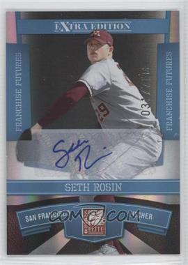2010 Donruss Elite Extra Edition - [Base] - Franchise Futures Signatures [Autographed] #17 - Seth Rosin /710