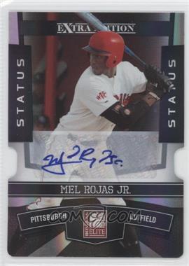 2010 Donruss Elite Extra Edition - [Base] - Status Black Die-Cut Signatures [Autographed] #80 - Mel Rojas Jr. /1