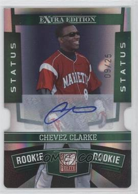 2010 Donruss Elite Extra Edition - [Base] - Status Emerald Die-Cut Signatures [Autographed] #129 - Chevez Clarke /25