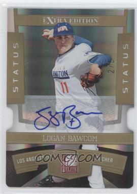 2010 Donruss Elite Extra Edition - [Base] - Status Gold Die-Cut Signatures [Autographed] #65 - Logan Bawcom /5