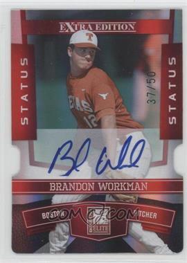 2010 Donruss Elite Extra Edition - [Base] - Status Red Die-Cut Signatures [Autographed] #14 - Brandon Workman /50