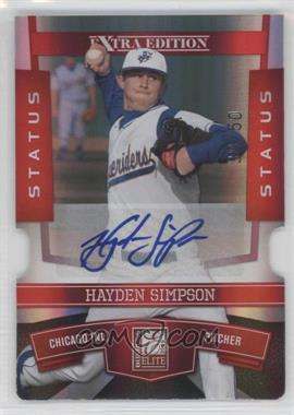 2010 Donruss Elite Extra Edition - [Base] - Status Red Die-Cut Signatures [Autographed] #50 - Hayden Simpson /50
