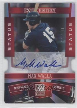 2010 Donruss Elite Extra Edition - [Base] - Status Red Die-Cut Signatures [Autographed] #89 - Max Walla /50