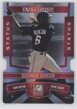 2010 Donruss Elite Extra Edition - [Base] - Status Red Die-Cut #77 - Edinson Rincon /100