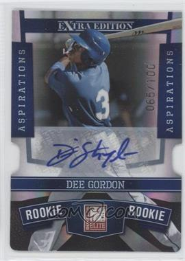 2010 Donruss Elite Extra Edition Aspirations Die-Cut Signatures #134 - Dee Gordon /100