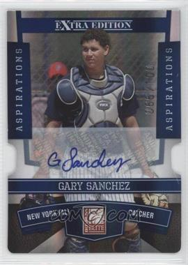2010 Donruss Elite Extra Edition Aspirations Die-Cut Signatures #34 - Gary Sanchez /100