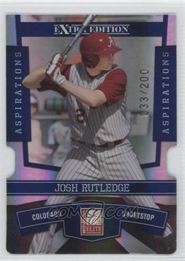 2010 Donruss Elite Extra Edition Aspirations Die-Cut #18 - Josh Rutledge /200