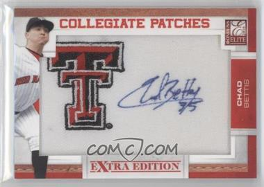 2010 Donruss Elite Extra Edition Collegiate Patches Signatures #CB - Chad Bettis /125
