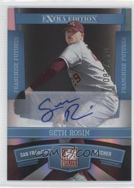 2010 Donruss Elite Extra Edition Franchise Futures Signatures [Autographed] #17 - Seth Rosin /710