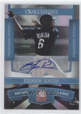 2010 Donruss Elite Extra Edition Franchise Futures Signatures [Autographed] #77 - Edinson Rincon /819