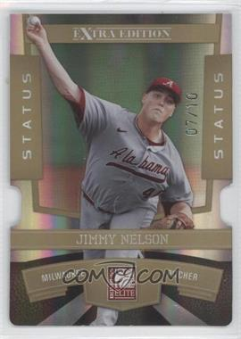2010 Donruss Elite Extra Edition Status Gold Die-Cut #41 - Jimmy Nelson /10
