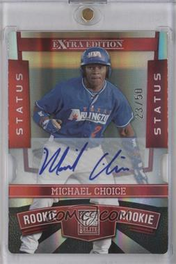 2010 Donruss Elite Extra Edition Status Red Die-Cut Signatures [Autographed] #101 - Michael Choice /50