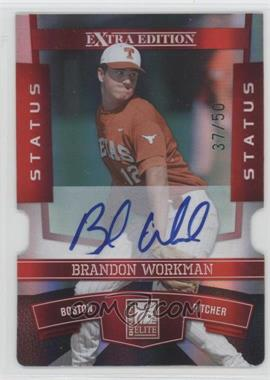 2010 Donruss Elite Extra Edition Status Red Die-Cut Signatures [Autographed] #14 - Brandon Workman /50