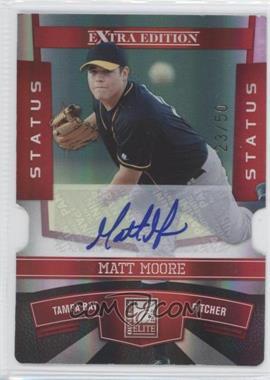 2010 Donruss Elite Extra Edition Status Red Die-Cut Signatures [Autographed] #15 - Matt Moore /50