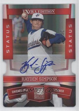 2010 Donruss Elite Extra Edition Status Red Die-Cut Signatures [Autographed] #50 - Hayden Simpson /50