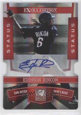 2010 Donruss Elite Extra Edition Status Red Die-Cut Signatures [Autographed] #77 - Edinson Rincon /50