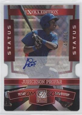 2010 Donruss Elite Extra Edition Status Red Die-Cut Signatures [Autographed] #90 - Jurickson Profar /50