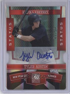 2010 Donruss Elite Extra Edition Status Red Die-Cut Signatures [Autographed] #95 - Tyler Austin /50