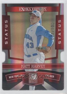 2010 Donruss Elite Extra Edition Status Red Die-Cut #46 - Matt Harvey /100