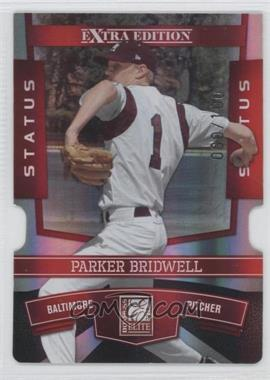 2010 Donruss Elite Extra Edition Status Red Die-Cut #94 - Parker Bridwell /100