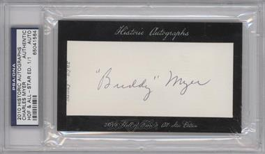 2010 Historic Autographs Cut Autographs - Hall of Fame & All-Star Edition - [Autographed] #CHMY - Buddy Myer /1 [PSA/DNA Certified Auto]