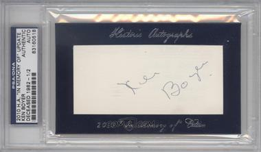 "2010 Historic Autographs Cut Autographs - ""In Memory of"" Edition - [Autographed] #KEBO - Ken Boyer /2 [PSA/DNA Certified Auto]"
