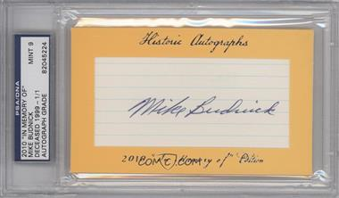 """2010 Historic Autographs Cut Autographs - """"In Memory of"""" Edition - [Autographed] #MIBU - Mike Budnick /1 [PSA/DNACertifiedAuto]"""