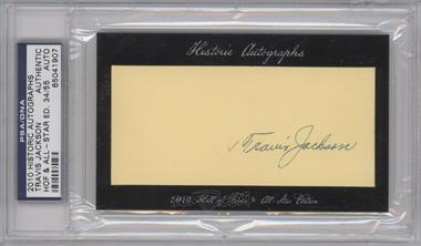 2010 Historic Autographs Cut Autographs Hall of Fame & All-Star Edition [Autographed] #TRJA - Travis Jackson /55 [PSA/DNACertifiedAuto]