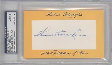 "2010 Historic Autographs Cut Autographs ""In Memory of"" Edition [Autographed] #THLE - Thomas Lee /1 [PSA/DNA Certified Auto]"