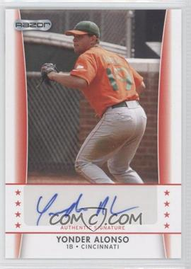 2010 Razor Autographs - [Base] #YA - 3 - Yonder Alonso