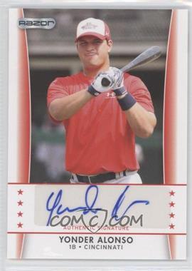 2010 Razor Autographs - [Base] #YA - 5 - Yonder Alonso