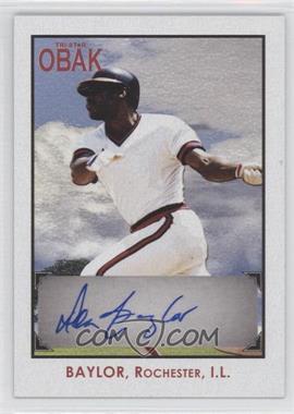 2010 TRISTAR Obak Autographs Red #A48 - Don Baylor /5