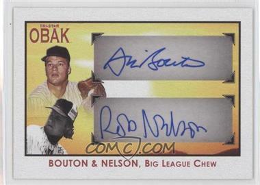 2010 TRISTAR Obak Autographs Red #A82 - Jim Bouton, Robert Nelson /5