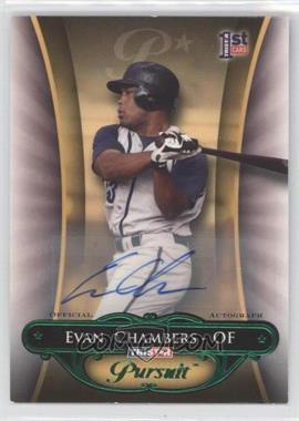 2010 TRISTAR Pursuit - [Base] - Green Autographs [Autographed] #113 - Evan Chambers /25