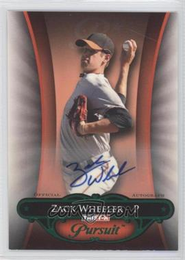 2010 TRISTAR Pursuit - [Base] - Green Autographs [Autographed] #3 - Zack Wheeler /25