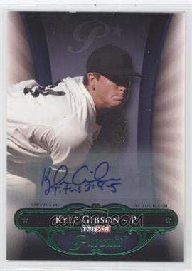 2010 TRISTAR Pursuit - [Base] - Green Autographs [Autographed] #91 - Kyle Gibson /25