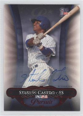 2010 TRISTAR Pursuit - [Base] - Red Autographs [Autographed] #126 - Starlin Castro /5