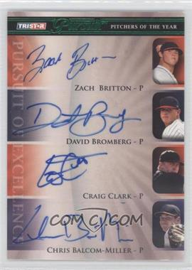 2010 TRISTAR Pursuit Green Autographs [Autographed] #154 - Craig Clark, Chris Balcom-Miller, Zach Britton, David Bromberg /25