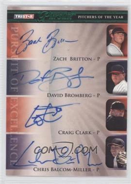 2010 TRISTAR Pursuit Green Autographs [Autographed] #154 - Zach Braddock, Craig Clark, Chris Balcom-Miller /25