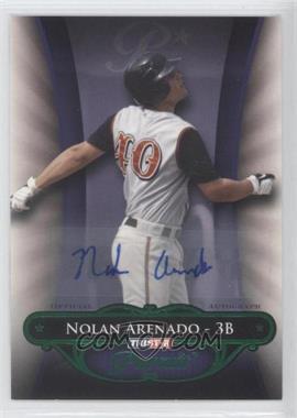2010 TRISTAR Pursuit Green Autographs [Autographed] #24 - Nolan Arenado /25