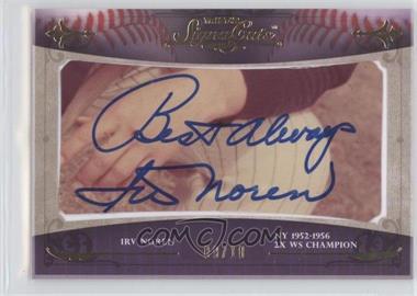 2010 TRISTAR Signa Cuts Cut Autographs Gold #N/A - Irv Noren /10