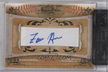 2010 TRISTAR Signa Cuts Cut Autographs Gold #ZOAL - Zoilo Almonte /10